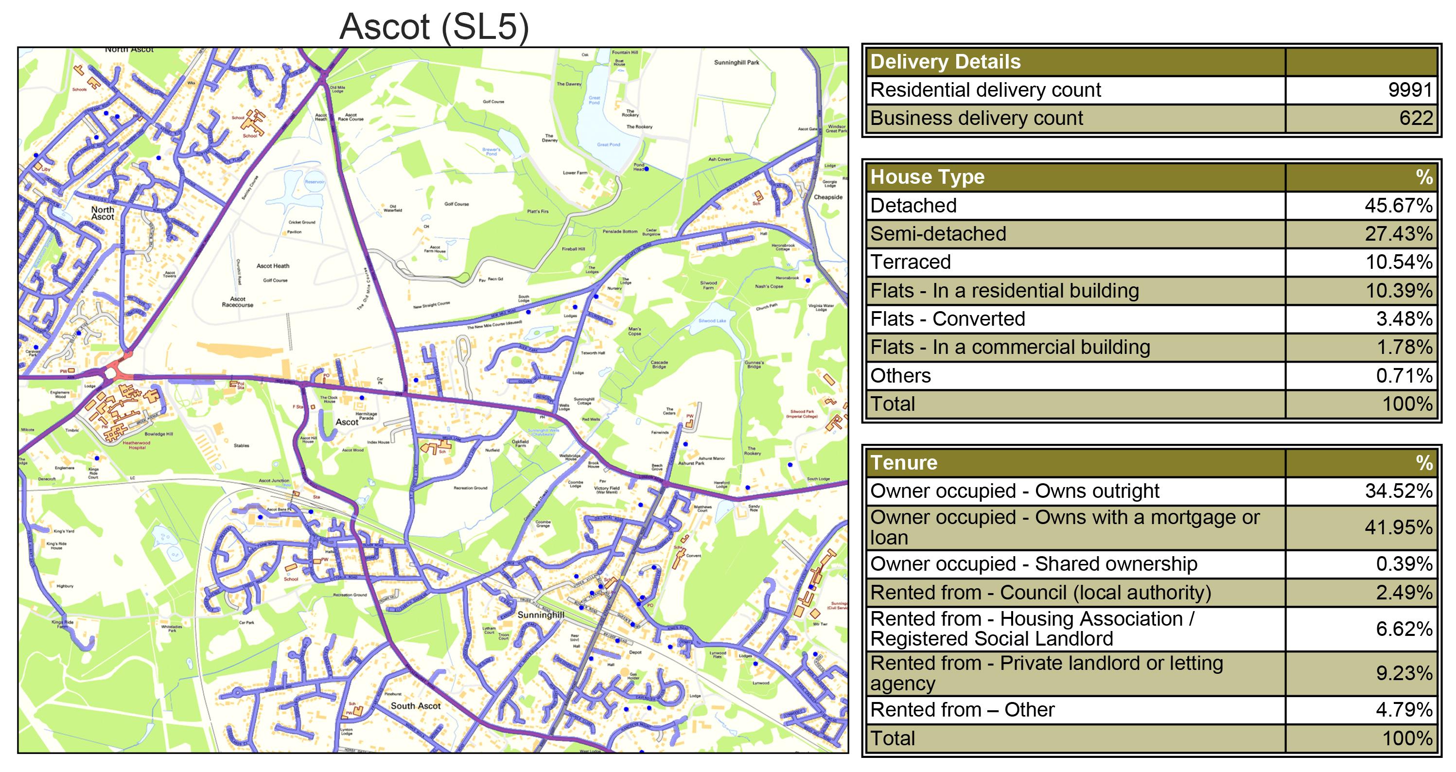 Leaflet Distribution Ascot - Geoplan Image