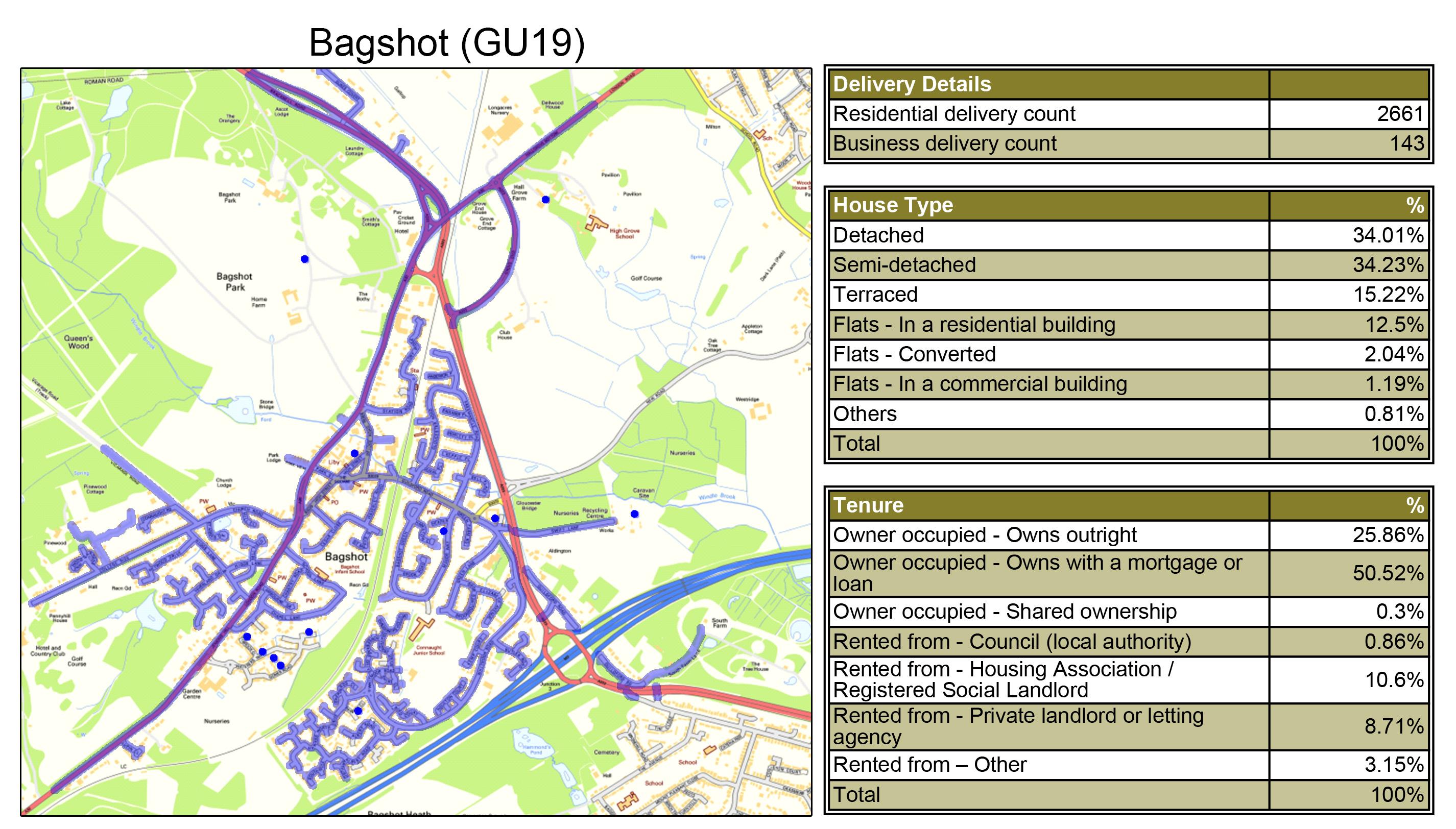 Leaflet Distribution Bagshot - Geoplan Image