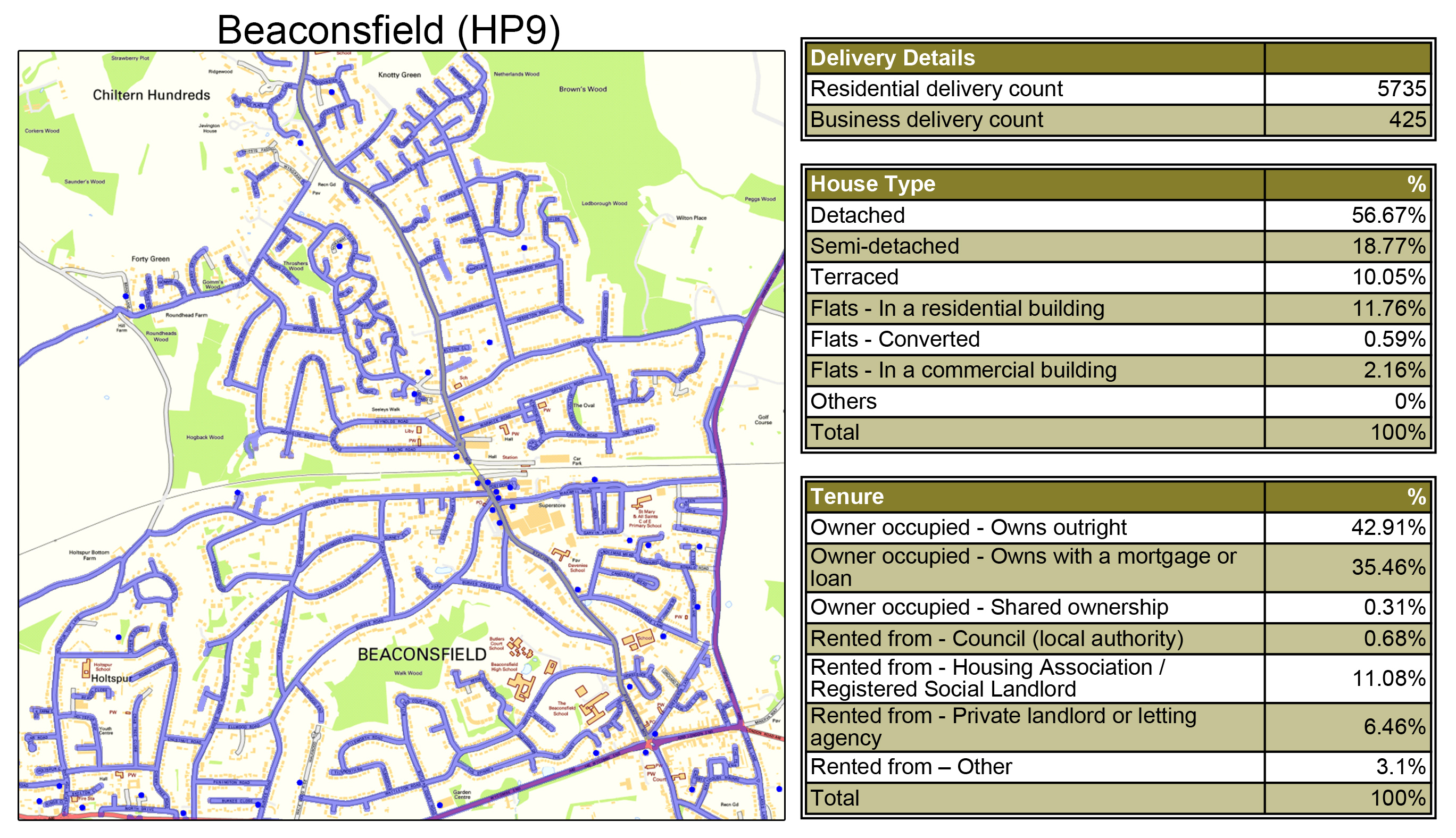 Leaflet Distribution Beaconsfield - Geoplan Image