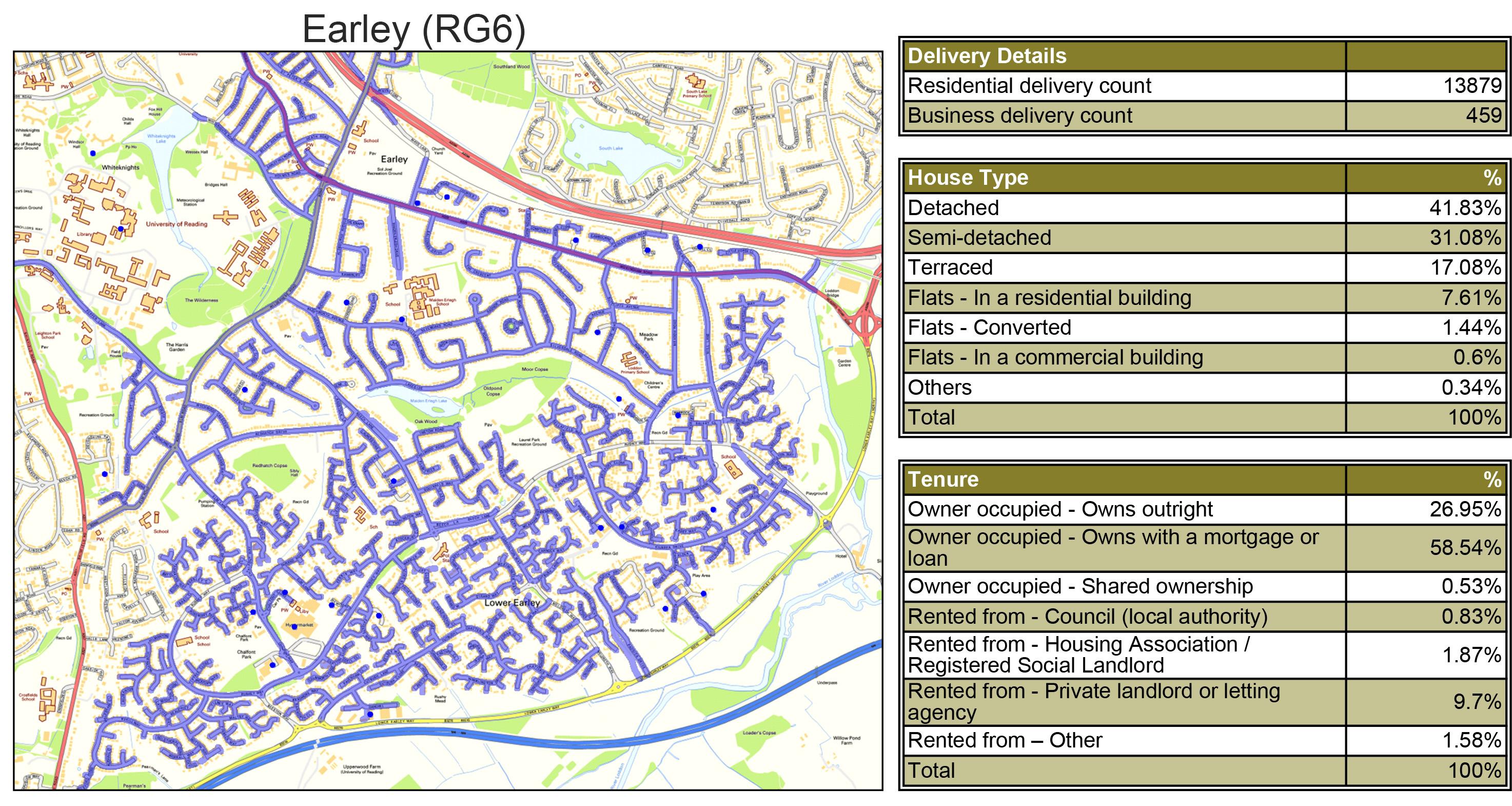 Leaflet Distribution Earley - Geoplan Image