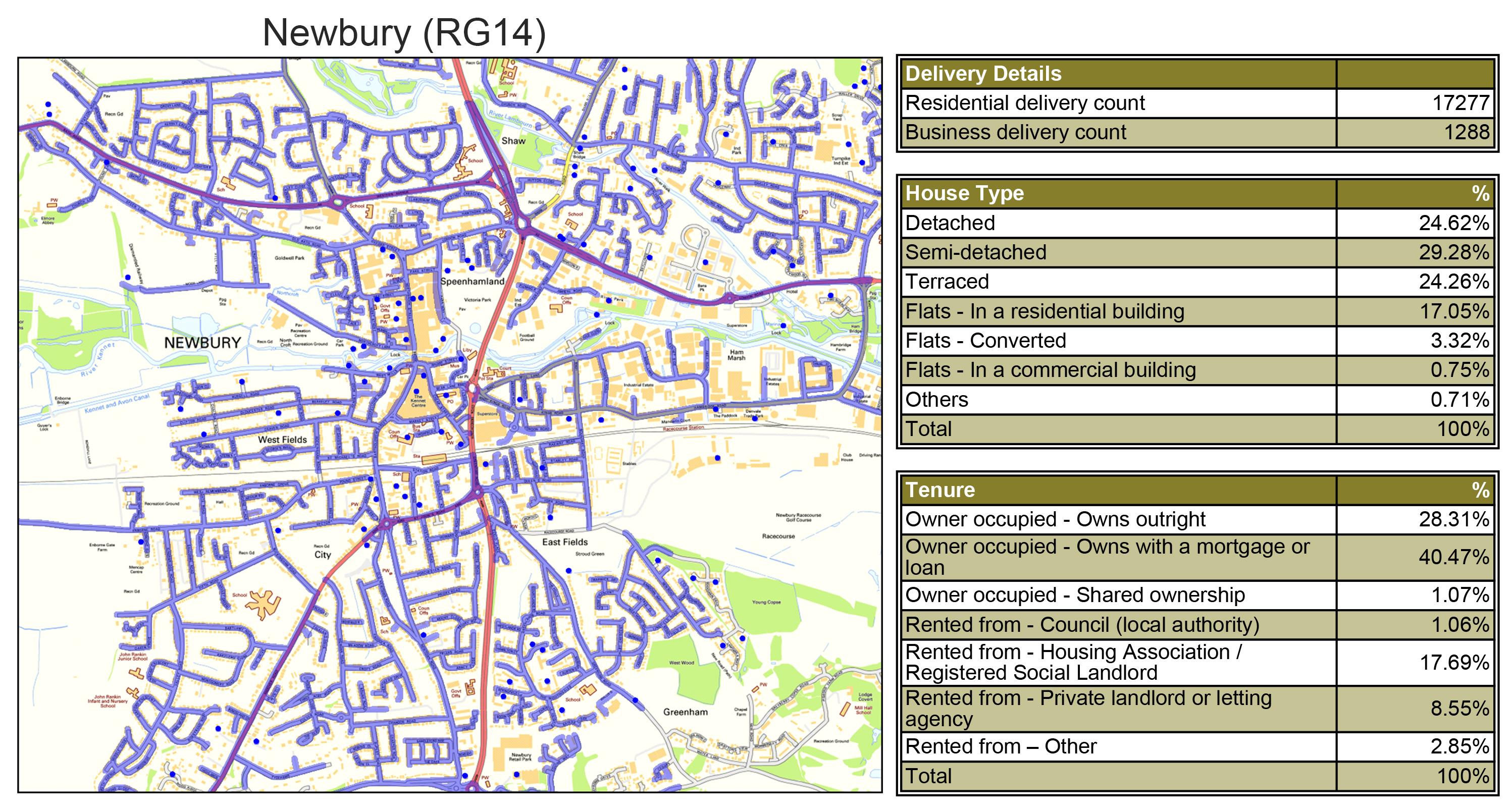 Leaflet Distribution Newbury - Geoplan Image