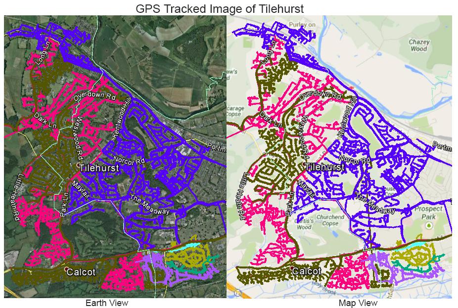 Leaflet Distribution Tilehurst - GPS Tracked Image