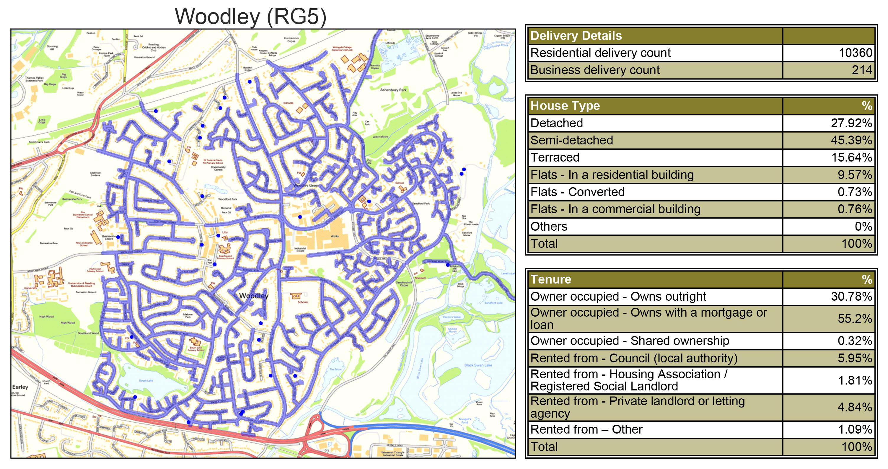 Leaflet Distribution Woodley - Geoplan Image