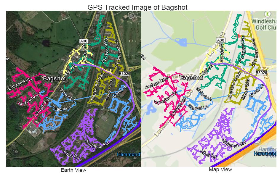 Leaflet Distribution Bagshot - GPS Tracked