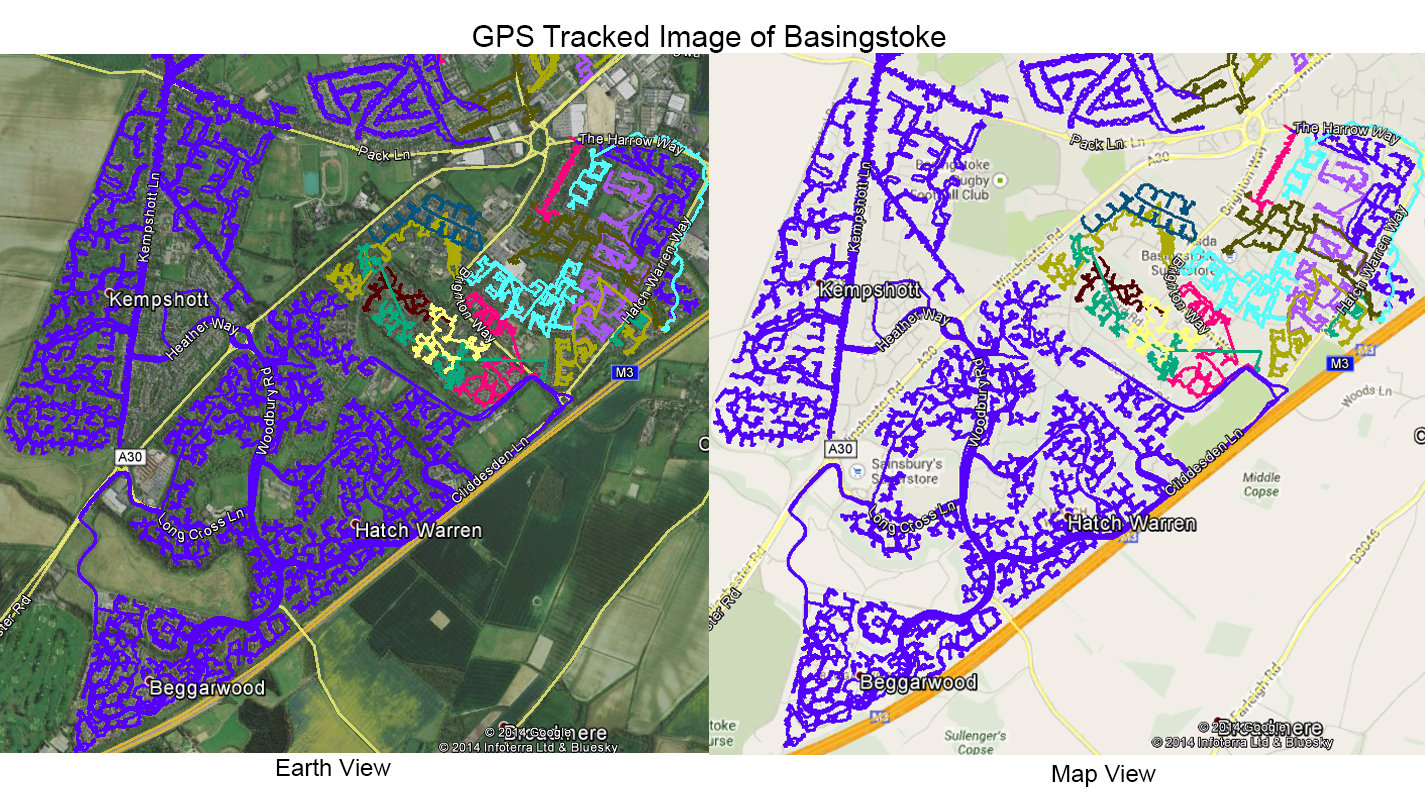 Leaflet Distribution Basingstoke - GPS Tracked