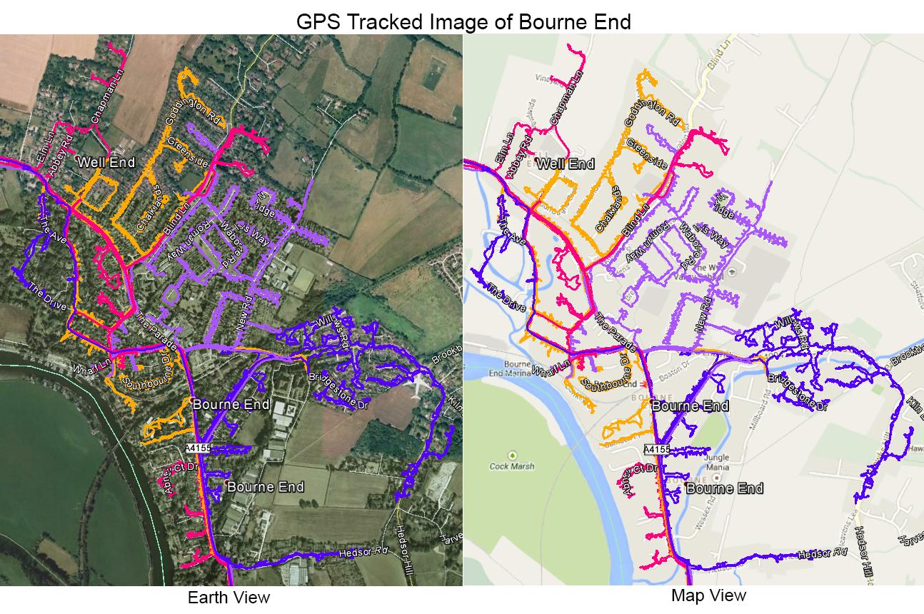 Leaflet Distribution Bourne End - GPS Tracked