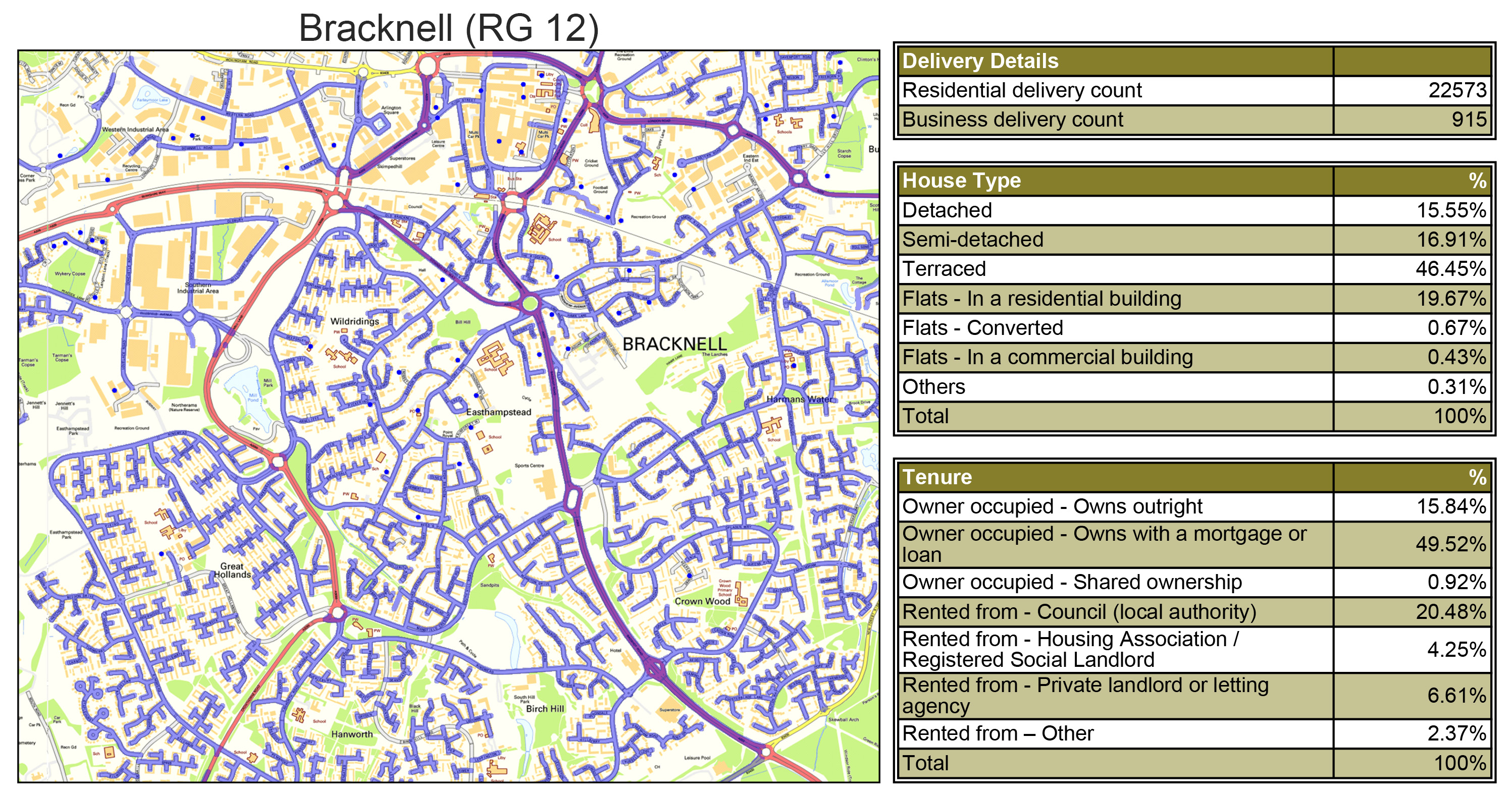 Leaflet Distribution Bracknell - Geoplan Image