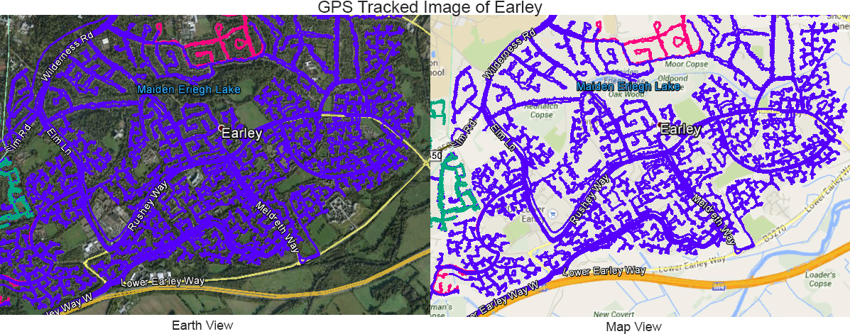 Leaflet Distribution Earley - GPS Tracked Image
