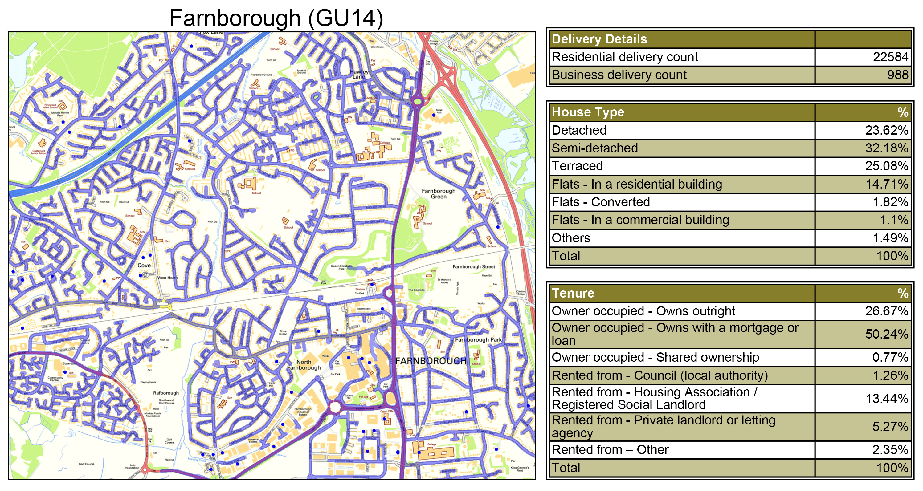 Leaflet Distribution Farnborough - Geoplan Image