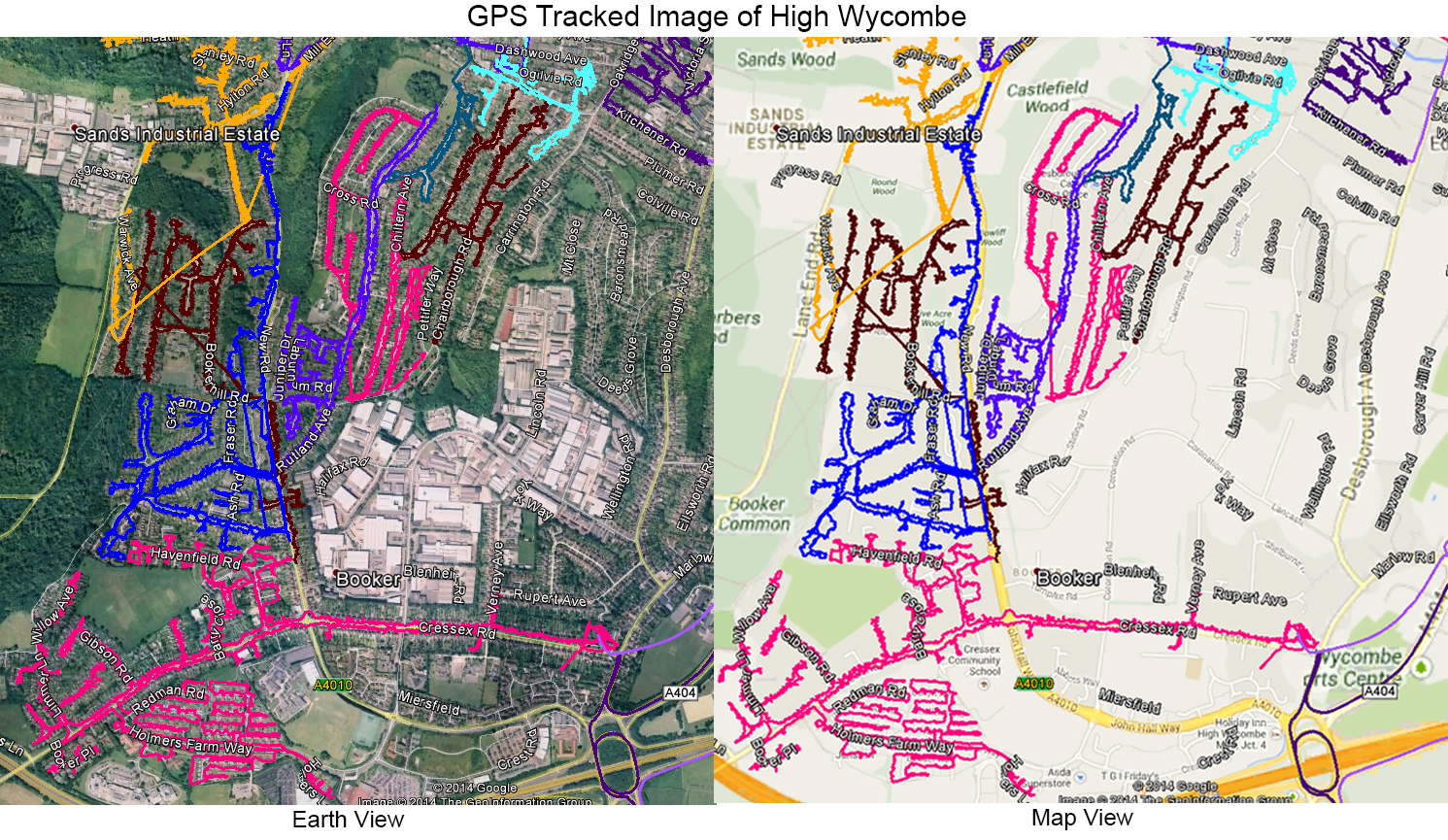 Leaflet Distribution High Wycombe - GPS Tracked