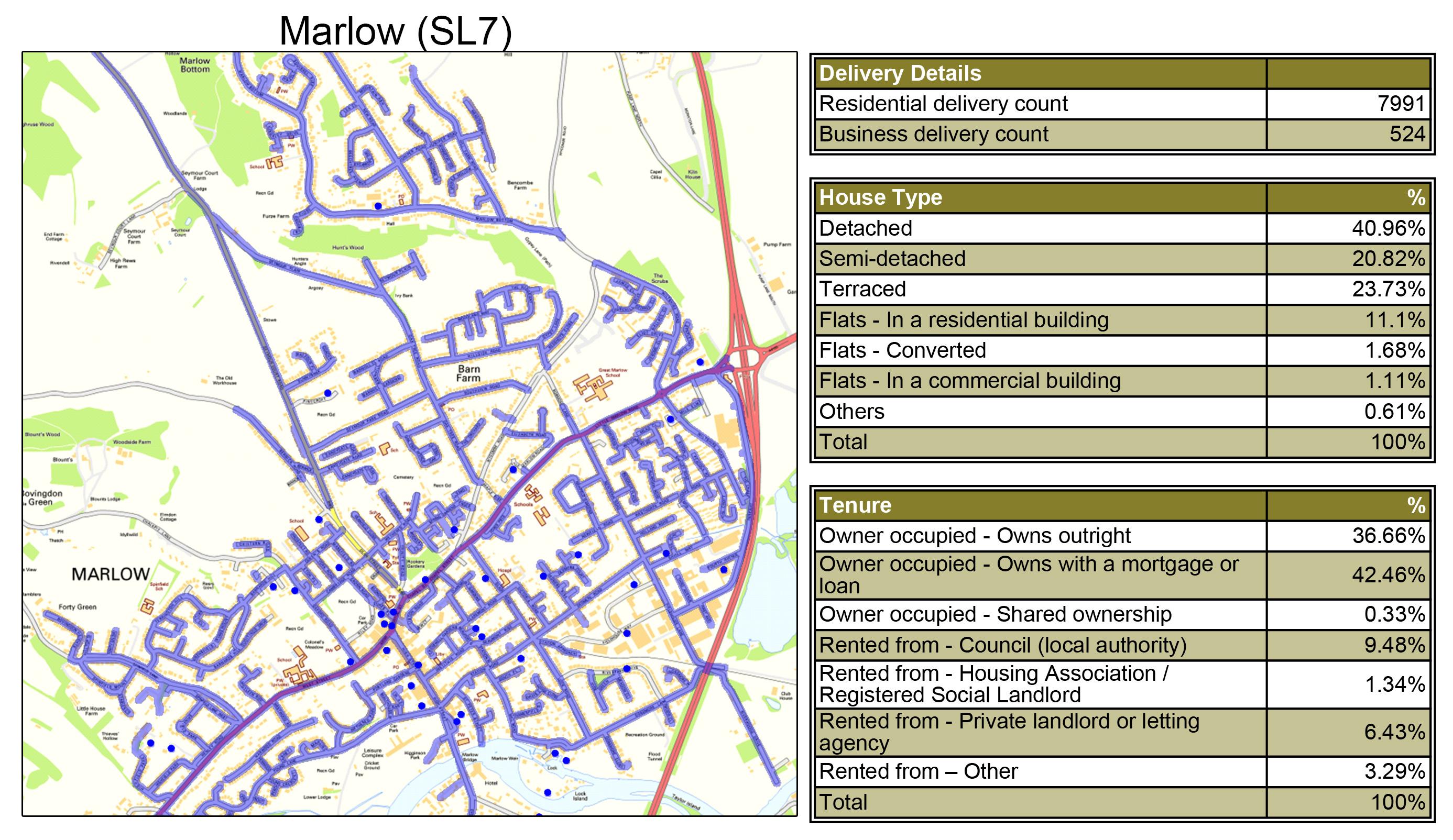 Leaflet Distribution Marlow - Geoplan Image