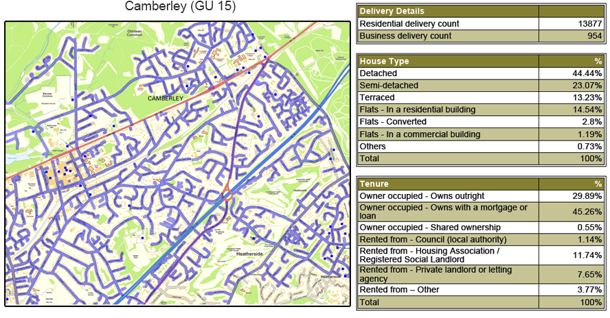 Leaflet Distribution in Surrey - GPS Tracked Image