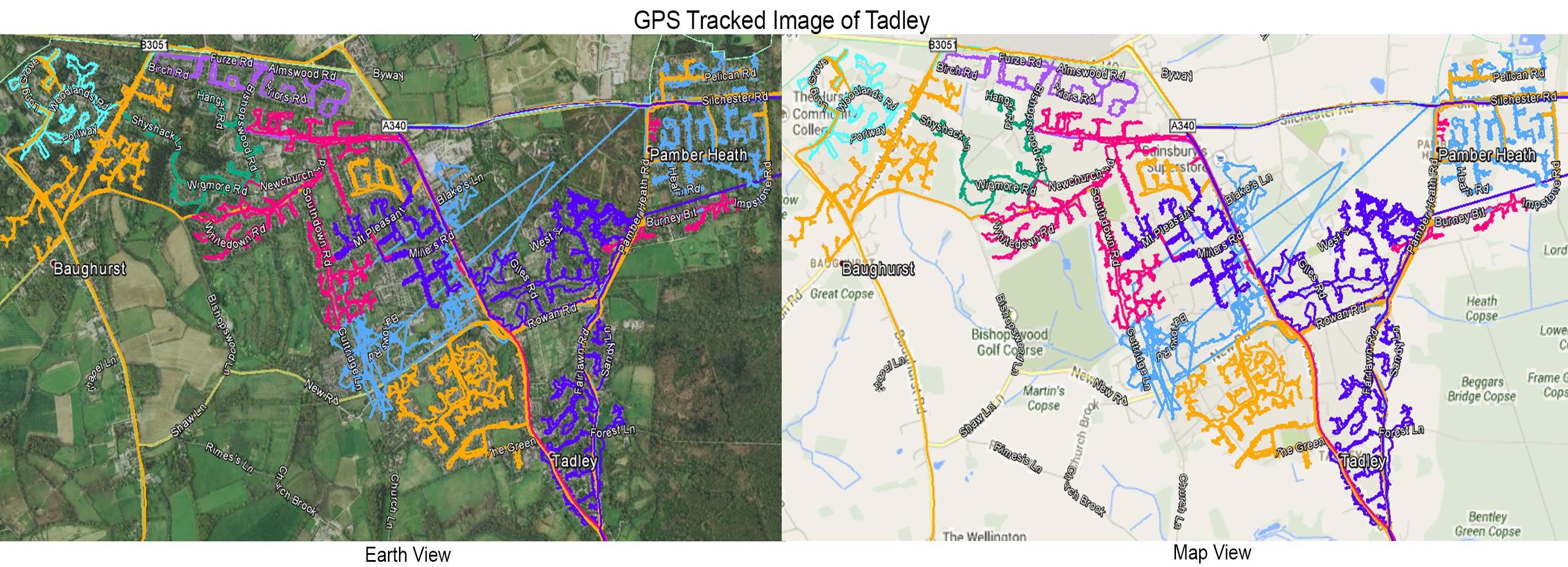 Leaflet Distribution Tadley - GPS Tracked