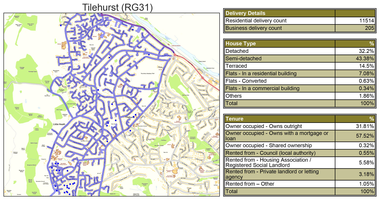Leaflet Distribution Tilehurst - Geoplan Image