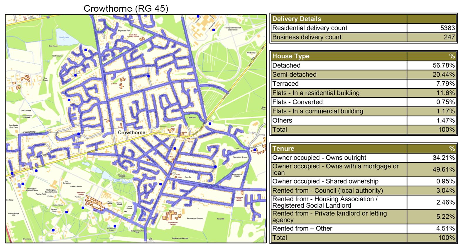 Geoplan Image - Leaflet Distribution in Berkshire