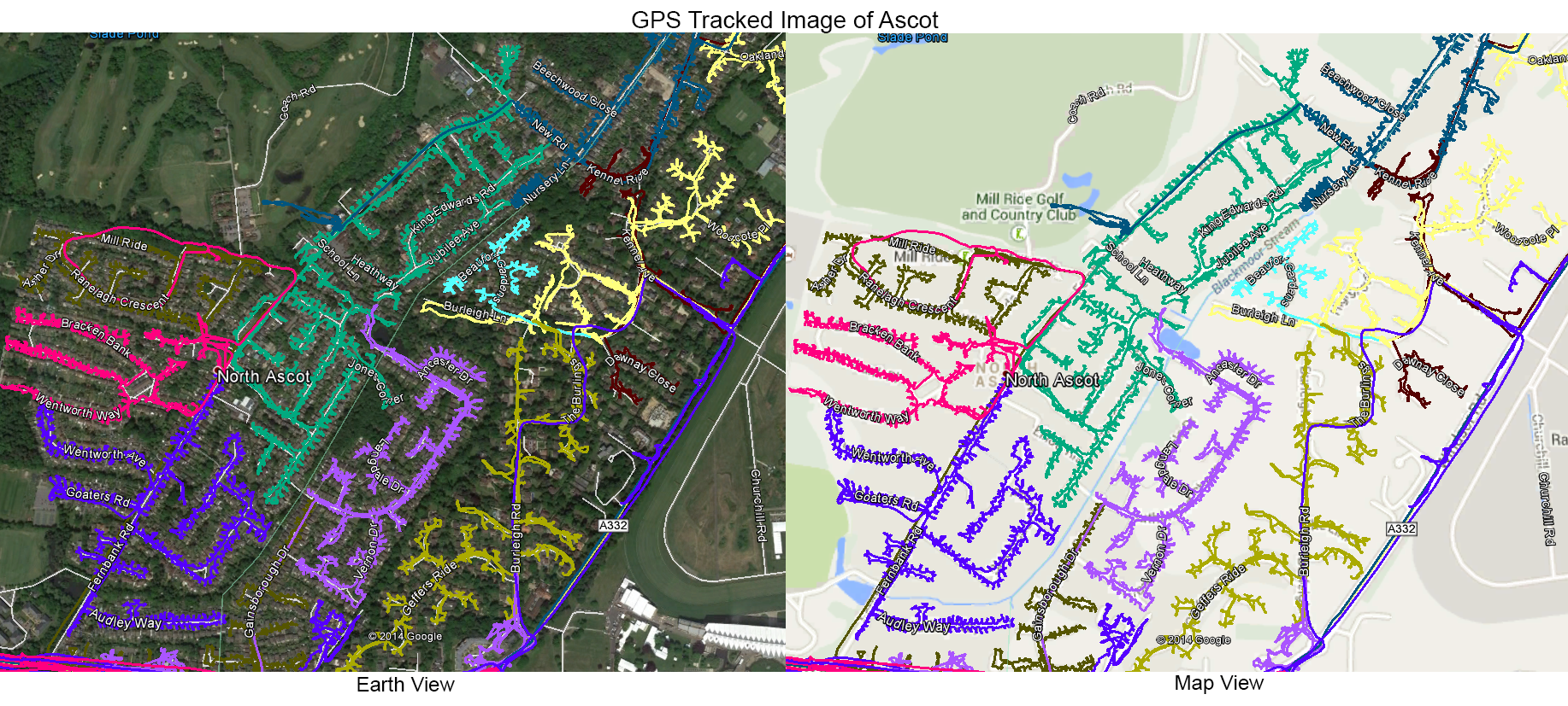 Leaflet Distribution Ascot - GPS Tracked Iamge