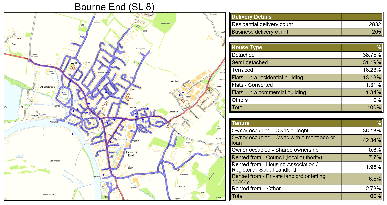 Leaflet Distribution Bourne End - Geoplan Image