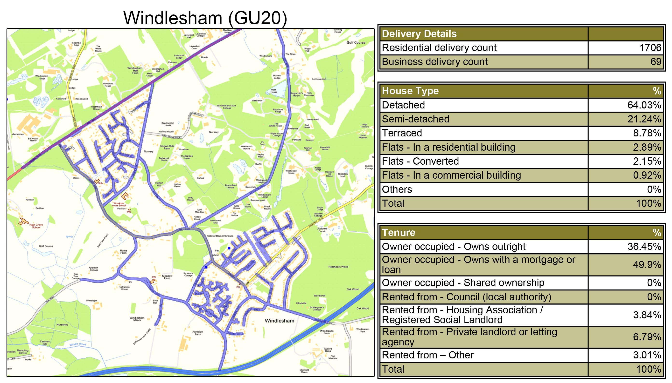 Leaflet Distribution Windlesham - Geoplan Image