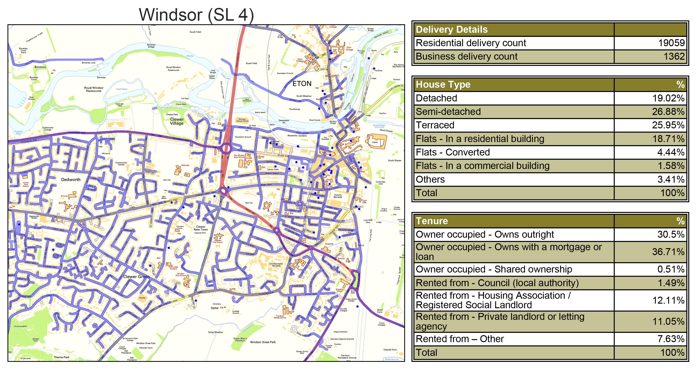 Leaflet Distribution Windsor - Geoplan Image