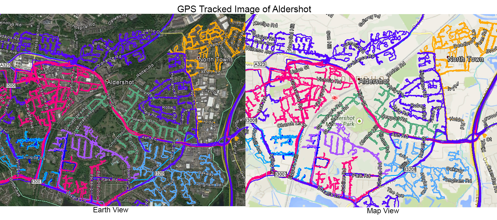 Leaflet Distribution Aldershot - GPS Tracked