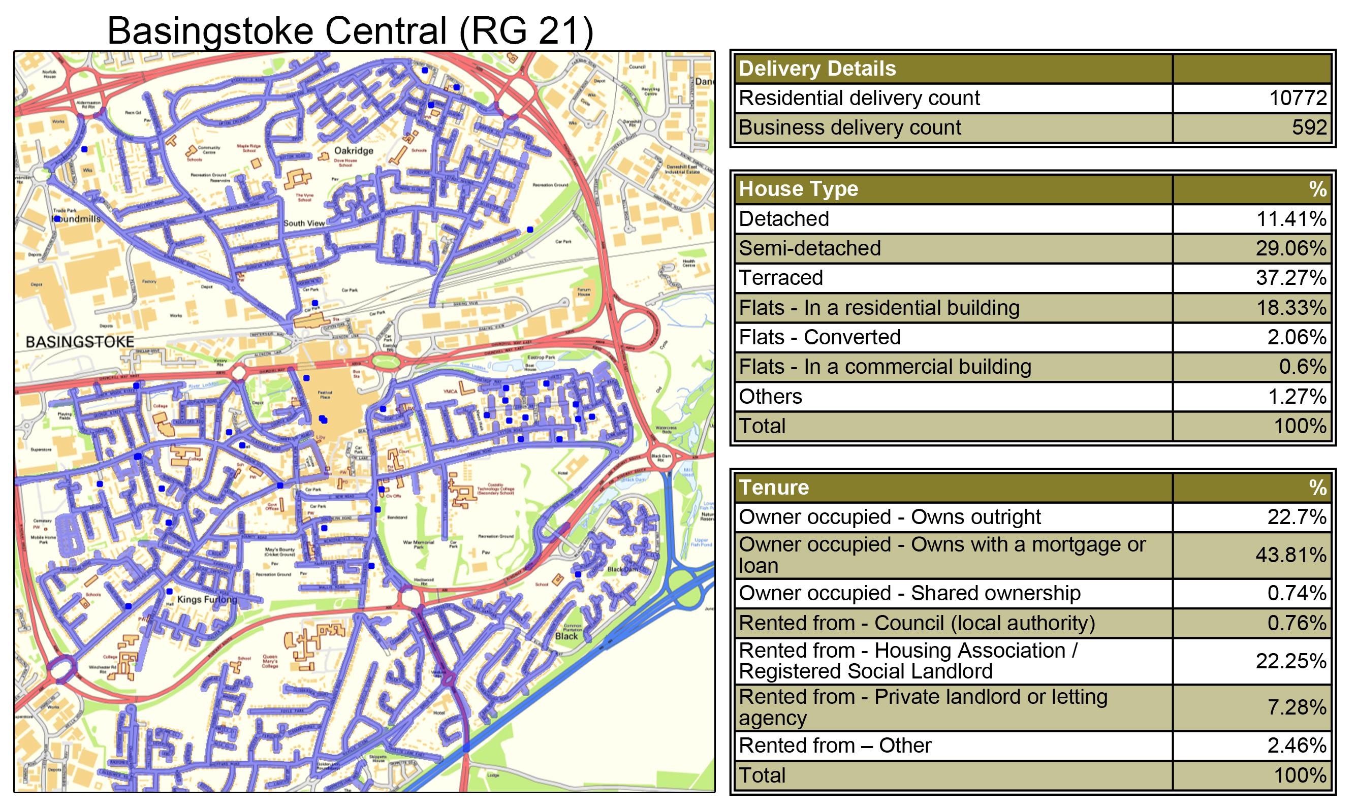 Leaflet Distribution Basingstoke - Geoplan Image