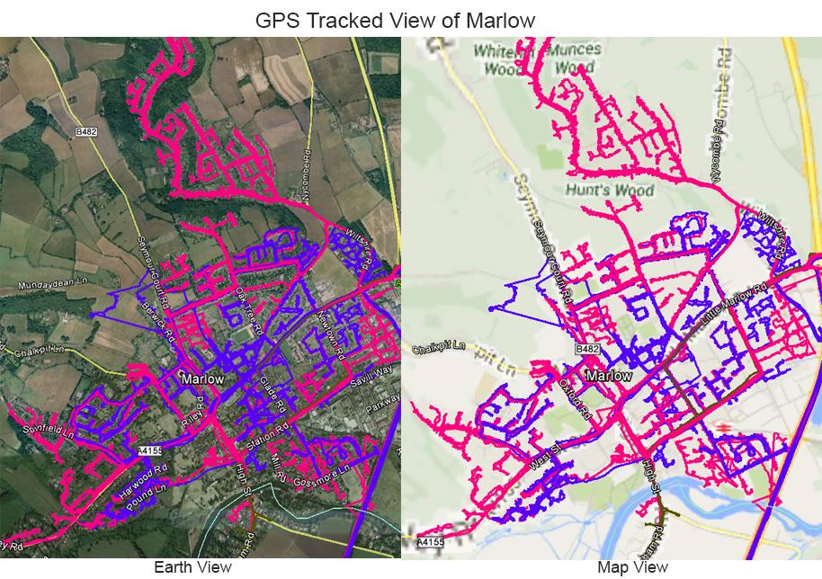 Leaflet Distribution in Buckinghamshire - GPS Tracked Image