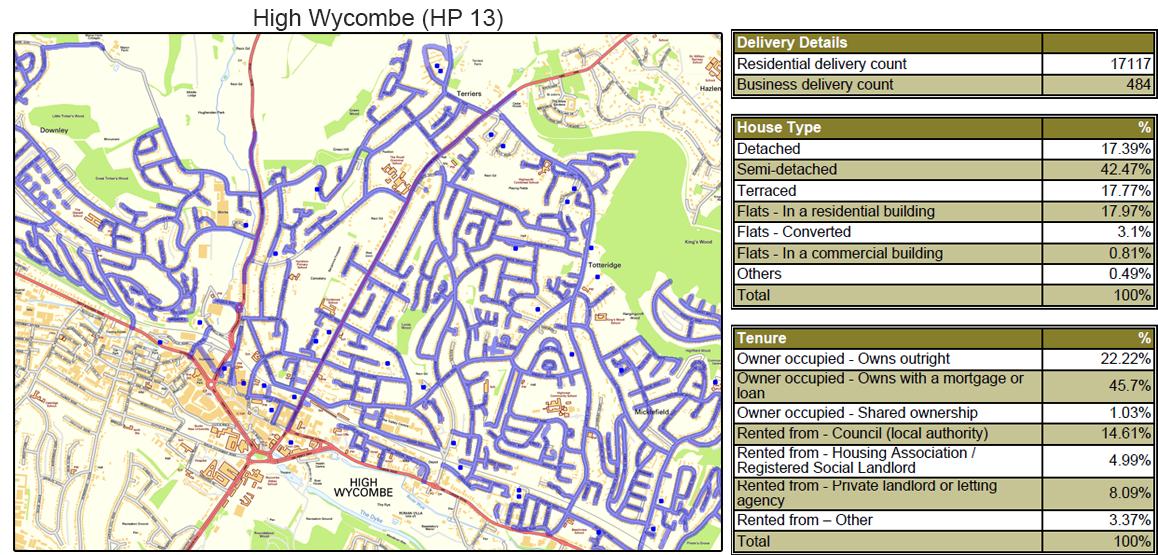 Leaflet Distribution In Buckinghamshire - Geoplan Image