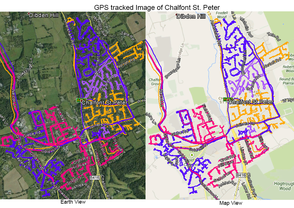 Leaflet Distribution Chalfont St Peter - GPS Tracked