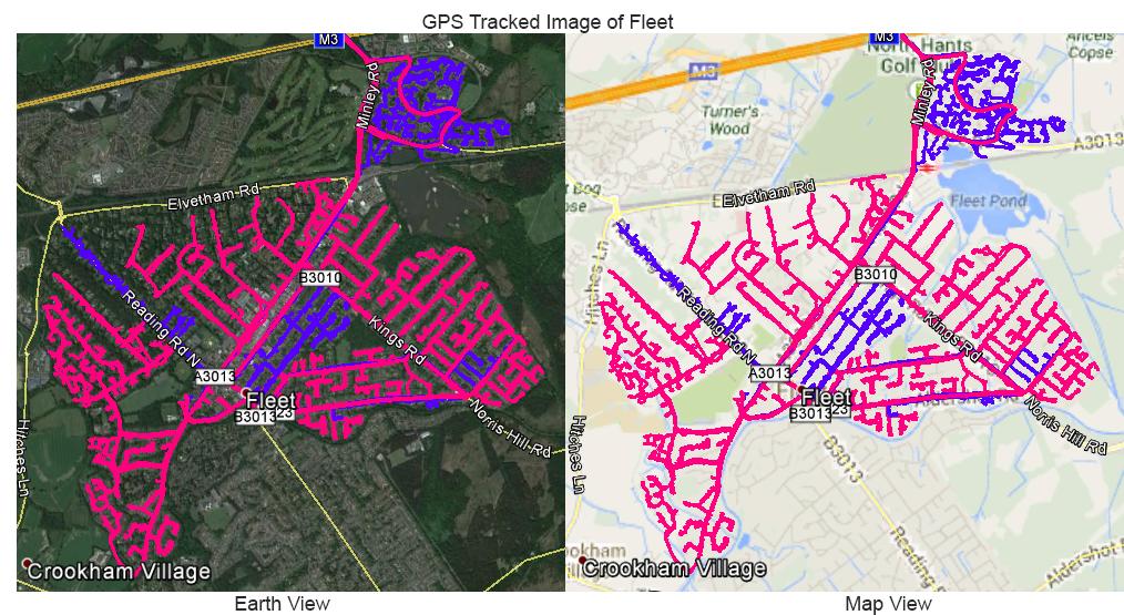 Leaflet Distribution Fleet - GPS Tracked