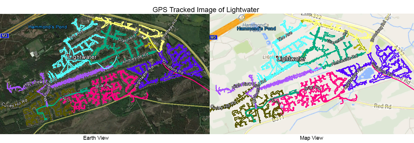 Leaflet Distribution Lightwater - GPS Tracked