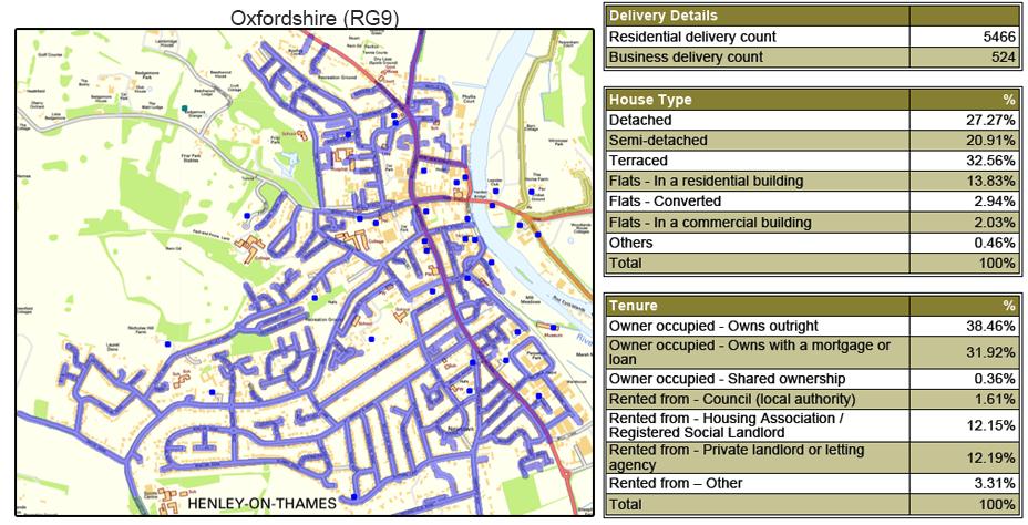 Leaflet Distribution in Oxfordshire - Geoplan Image