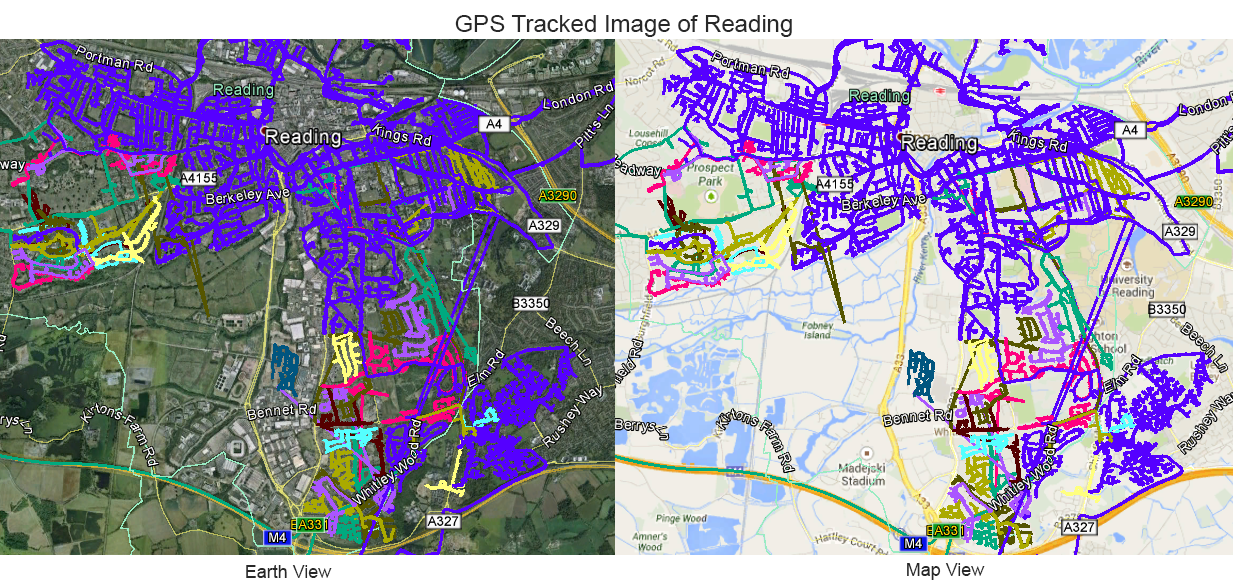 Leaflet Distribution Reading - GPS Tracked