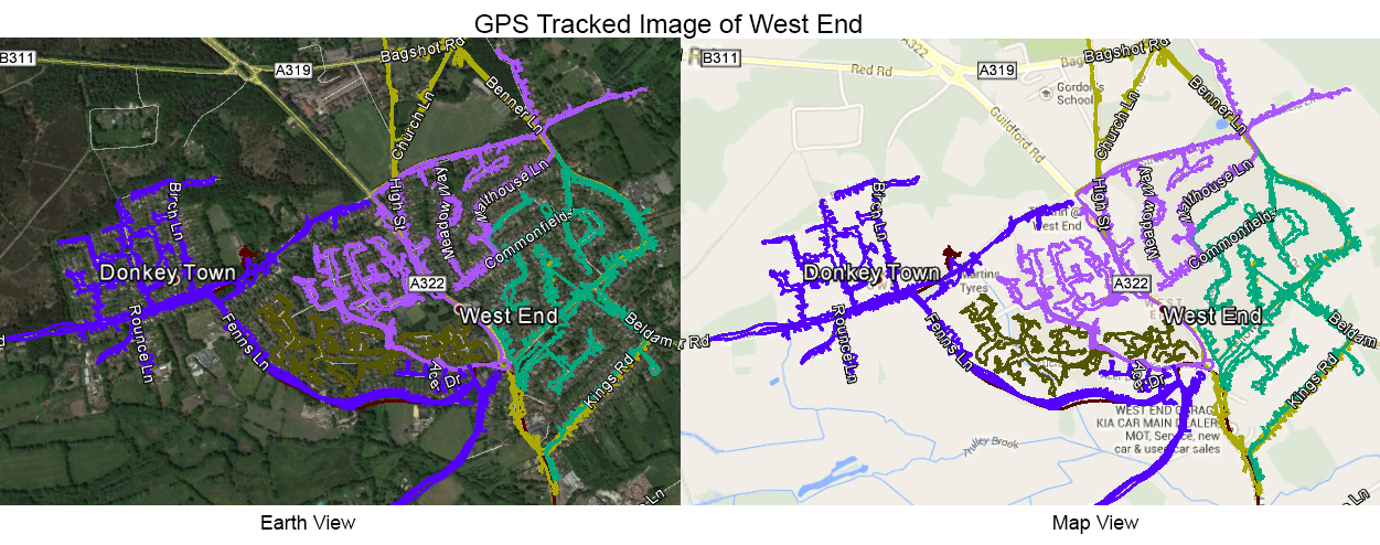 Leaflet Distribution West End - GPS  Tracked